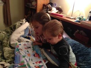 Natasha and Andrew read