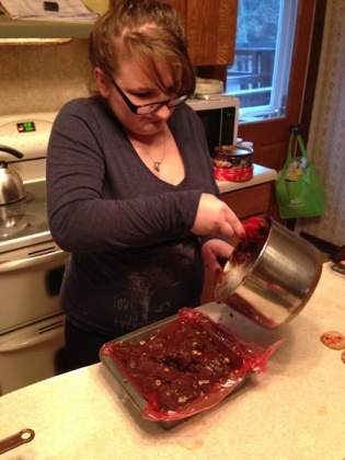 Jessica making fudge