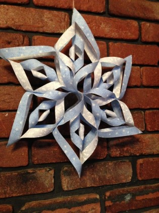 homemade snowflake