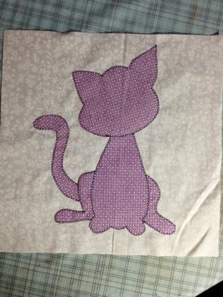 purple polka dot kitties