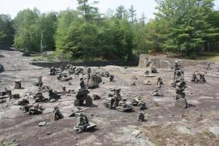 rock sculpture by amateurs