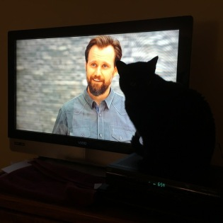 Maggie watching TV