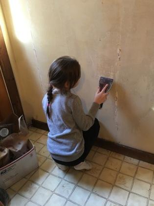 scraping wallpaper paste