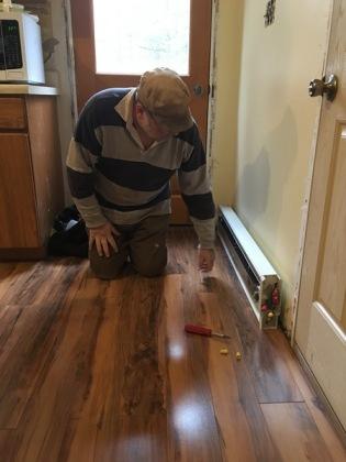 Paul installing heater