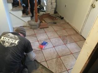 tiling entryway