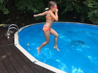 Natasha takes a plunge