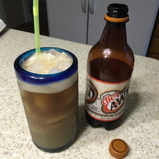 Root beer and milk