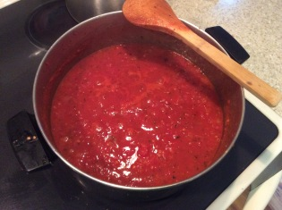 Finished tomato sauce