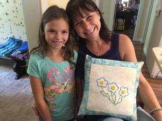 Aunt April's new pillow