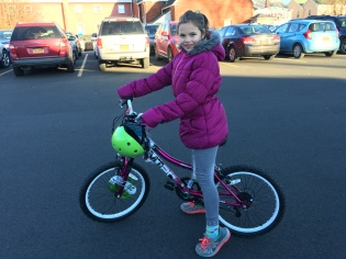 Natasha and her new bike