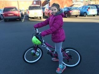 Natasha and her new bike